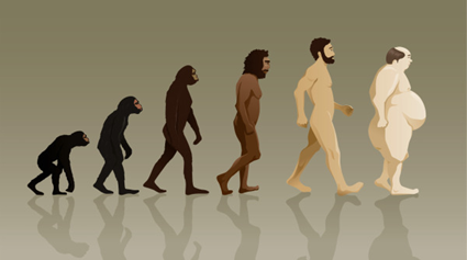 Illustration: la marche du progrès selon Fuzzyraptor (piqué sur SSAFT avec la bénédiction de Pierre)