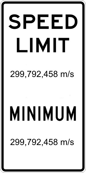 Einstein speed limit