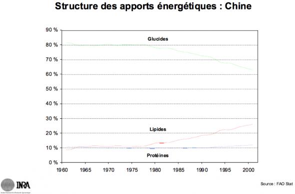 Pierre Combris: la structure des apports énergétiques (Chine)