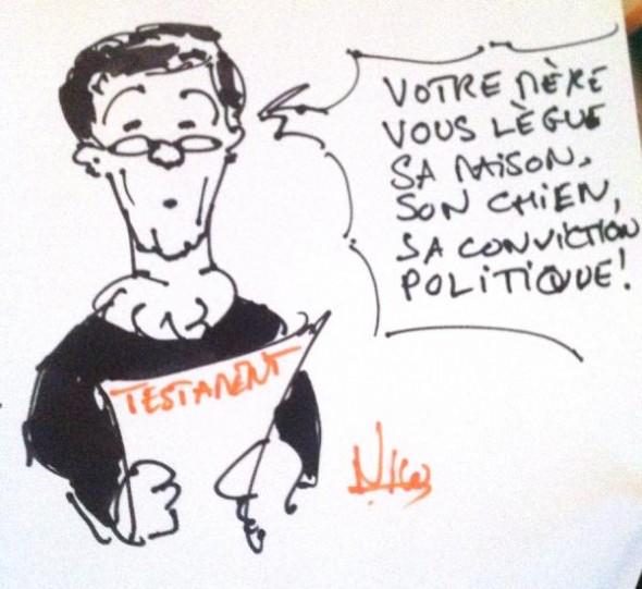 """Illustration par Nico réalisée en live pendant l'émission 84 (Dossier """"Pourquoi vote-t-on à gauche ou à droite?"""")"""