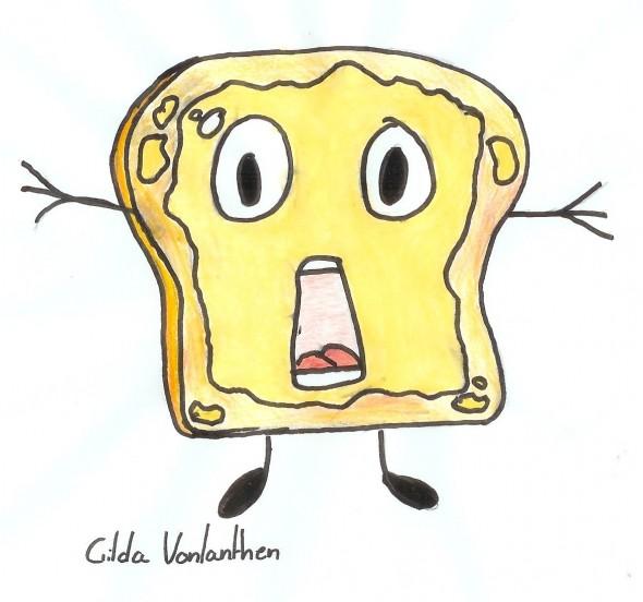 Le toast effrayé de Gilda