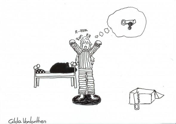 Somnambulisme, par Gilda Von, 12 ans