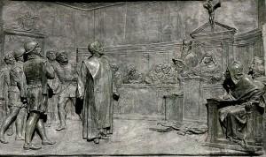 Congrès d'astronomie à Rome au 16ème siècle (ou Le Procès de Giordano Bruno, par Ettore Ferrari)