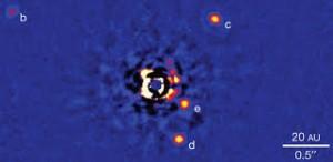 HR8799 (C.Marois & Keck Observatory)