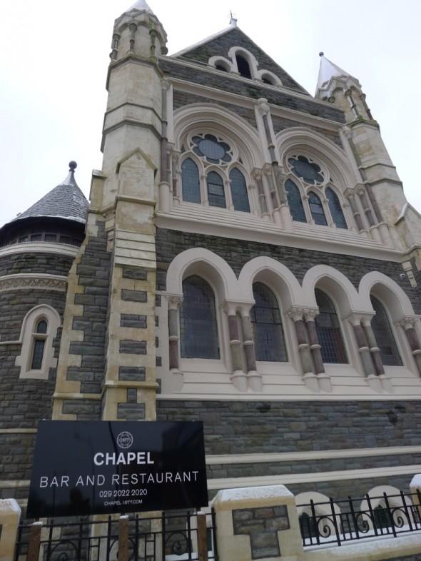 L'architecte et le proprio ne se doutaient certainement pas en bâtissant cette église de Cardiff qu'elle deviendrait l'un des meilleurs restos du Pays de Galles ;)
