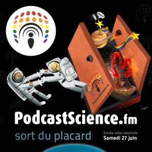 Dessin de Puyo pour l'épisode Podcast Science sort du placard