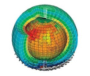 Un modèle climatique simule les interactions entre l'atmosphère, l'océan et les surfaces continentales. © Jean Louis Dufresne, CNRS