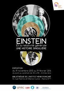 Einstein et la relativite generale - Affiche