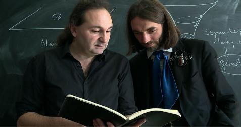 Jean-Philippe Uzan et Cédric Villani Source : IHP