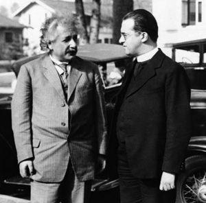 Albert Einstein et Georges Lemaître, Pasadena 1932